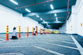 Underground garage new car park empty without a car Royalty Free Stock Photography