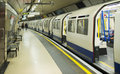 Underground in london railcar subway Royalty Free Stock Image
