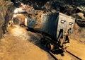 Underground mine tunnel, mining industry Royalty Free Stock Photo