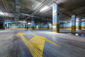 Underground parking new in a modern apartment building Royalty Free Stock Photos