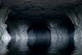 Underground River In A Dark St...
