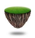 Underground soil layers isolated on white background Royalty Free Stock Photo