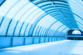 Underground subway tunnel corridor modern architecture Royalty Free Stock Photo