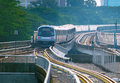 Underground train in Singapore Royalty Free Stock Photo