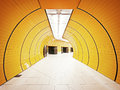 Underground tunnel at the marienplatz station in munich germany Stock Photo