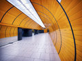 Underground tunnel at the marienplatz station in munich germany Royalty Free Stock Image