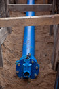 Underground water pipeline Royalty Free Stock Photo