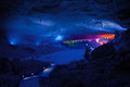 Underground world a karst cave in china Stock Image