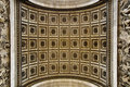 Underneath the Arc de Triomphe Royalty Free Stock Photo