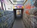 Underpass With Graffiti