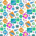 Undersea Animal Seamless Pattern