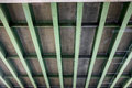 Underside of highway bridge on elevated section Stock Photo