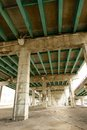 Underside of highway gardiner expressway in toronto canada Royalty Free Stock Photo