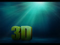 Underwater 3d Text Royalty Free Stock Photography
