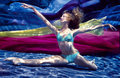 Underwater Ballerina Royalty Free Stock Photo