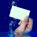 Underwater blank business card Stock Photography