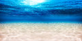 Underwater blue ocean sandy background