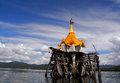 The underwater buddhist church of wat wang wiwekaram unseen in thailand Stock Images