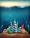 Underwater fantasy kingdom