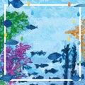 Underwater fish decor frame