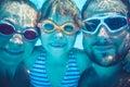 Underwater portrait of family Royalty Free Stock Photo