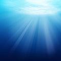 Underwater scene background Royalty Free Stock Photo
