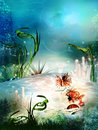 Underwater sea life background Royalty Free Stock Photo