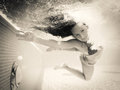 Underwater swim Royalty Free Stock Photos