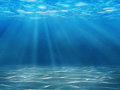 Underwater tranquil scene with copy space Stock Photography