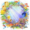 Underwater World. Fish Coral R...