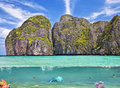 The underwater world of phi phi island thailand Royalty Free Stock Images