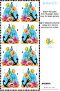Underwater world visual puzzle: Match the pairs - find the mirrored images