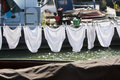Underwear on a clothesline on a ship Royalty Free Stock Photo