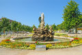 Undine brunnen fountain in baden bei wien austria july kurpark on july austria opened Royalty Free Stock Photography