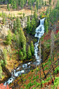 Undine falls yellowstone national park on an autumn day in of wyoming Stock Image