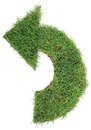 Undo grass arrow ecological green isolated on white background Stock Photography