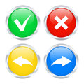 Undo and redo buttons set of vector illustration Royalty Free Stock Photos
