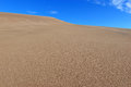 Undulating sand dunes and blue sky waves in in the desert Royalty Free Stock Image