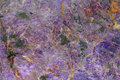 Une texture de minerai normal de charoite Images stock