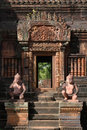 Une trappe de temple de Banteay Srei Photo stock