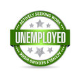 Unemployed stamp illustration design over a white background Stock Images