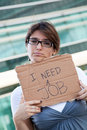 Unemployed woman Stock Images