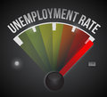 Unemployment rate level illustration design graphic guide Stock Photo