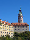 UNESCO - castle in town Czech Krumlov Stock Photo