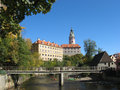 UNESCO - castle in town Czech Krumlov Stock Photography