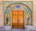 Unesco world heritage golestan palace in tehran iran door inside has become site the year big parts of the Stock Images