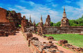 UNESCO World Heritage Site ancient temple in the former royal city of Ayutthaya Royalty Free Stock Photo