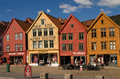 UNESCO World Heritage Site, Bryggen, Bergen, Norway Royalty Free Stock Photos