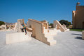 UNESCO World Heritage site - observatory Jantar Mantar Royalty Free Stock Photo