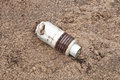 Unexploded grenade an on the battlefield Royalty Free Stock Photo